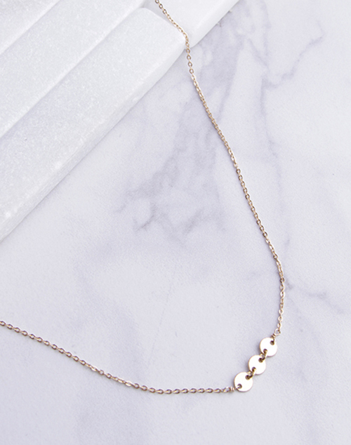 Tri Shimmer Choker - 14K Gold Filled