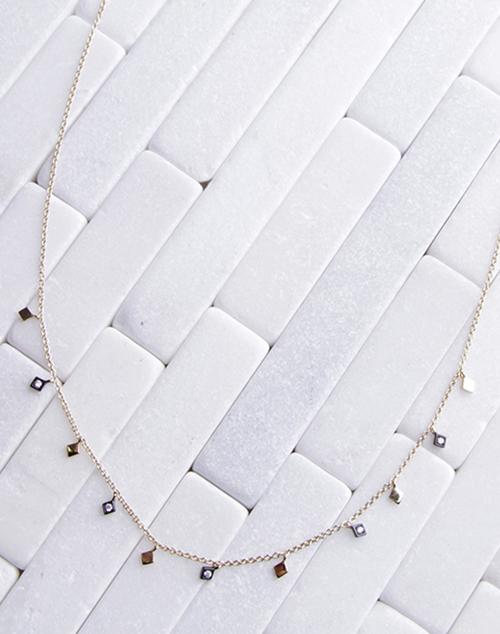 Black & Gold Diamond Necklace
