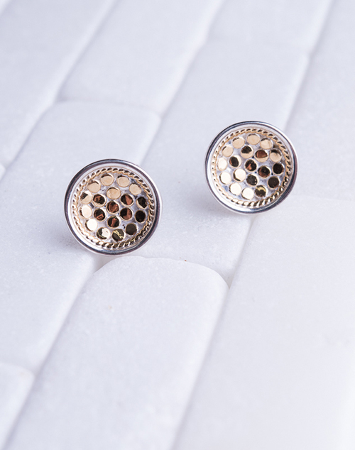 Dish Stud Gold Plated Earring