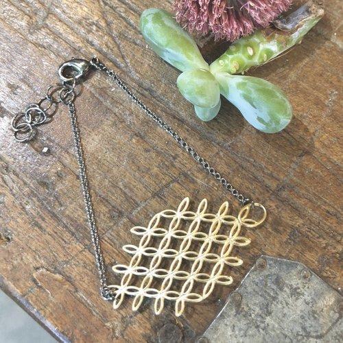Harlow Gold Mesh Bracelet