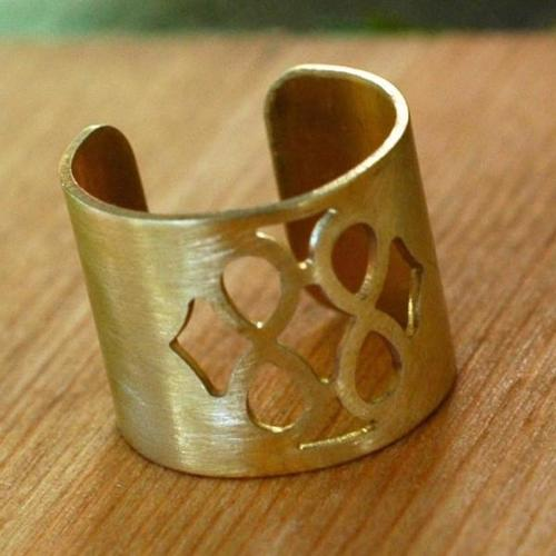 Harlow Brass Window Cutout Ring