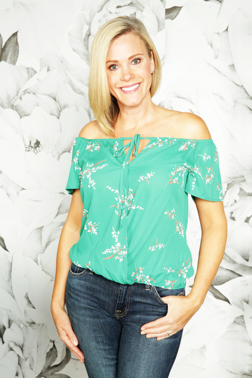 Delaney Surplice Off Shoulder Top