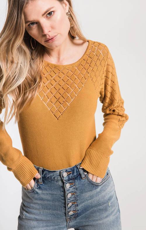 Jade Diamond Detail Sweater