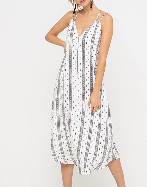 Breezy Double Strap Midi Dress