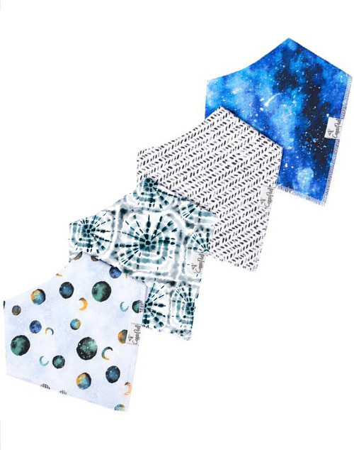Galaxy Baby Bandana Bib Set