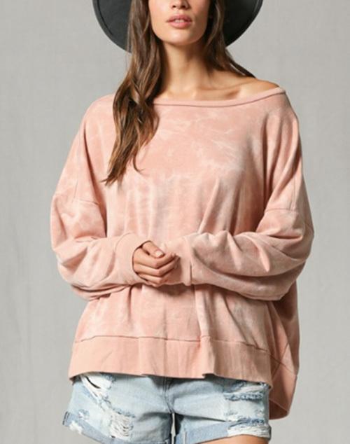 Long Sleeve Tye Dye Pullover