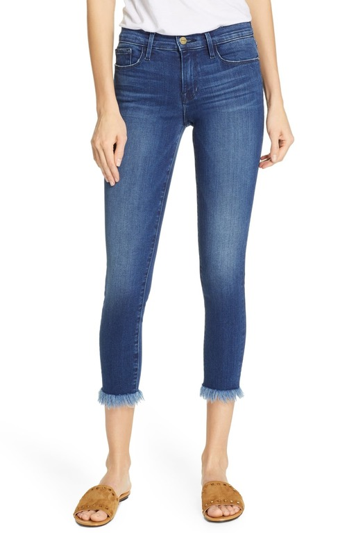 Le Skinny De Jeanne Crop Micro Shredded Raw