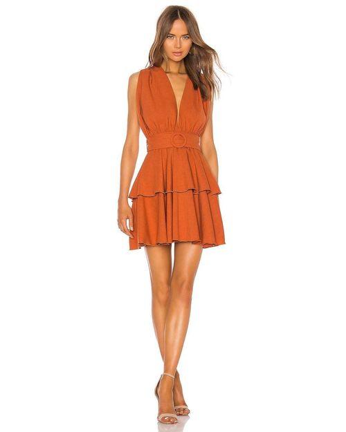 Halter Top Multiered Mini Dress