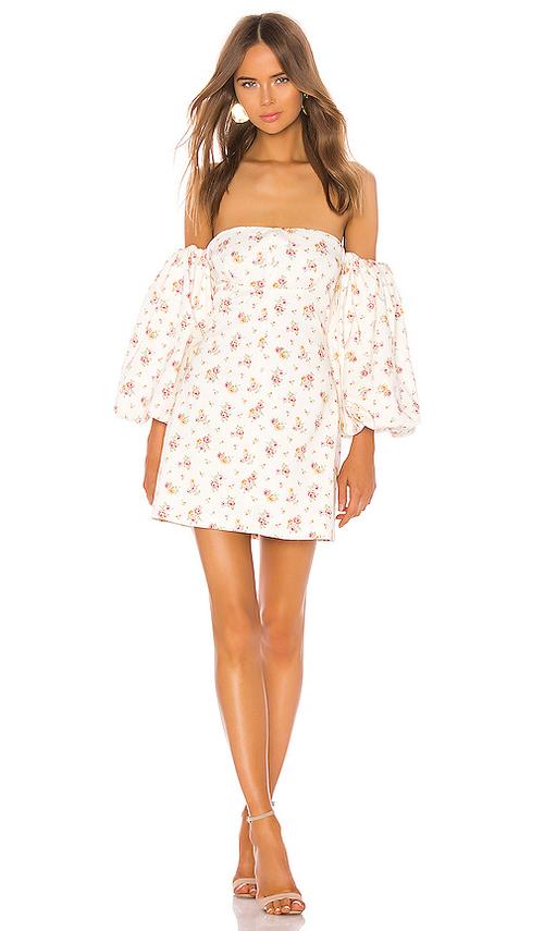 Renata Volume Sleeve Bandeau Mini Dress