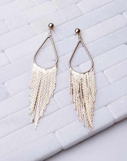Teardrop Fringe Long Dangle