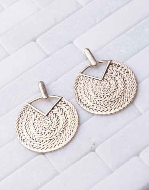 Woven Gold Detail Dangle