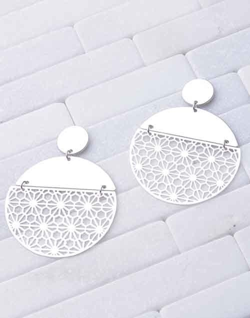 Laser Cut Flower Disc Dangle