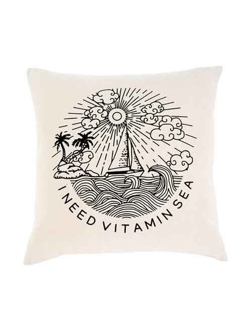 Vitamin Sea Cushion 20x20