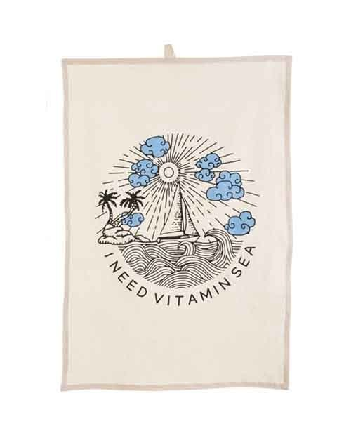 I Need Vitamin Sea Tea Towel