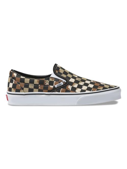 Vans Classic Slip-On Checkerboard Camo Desert / True White