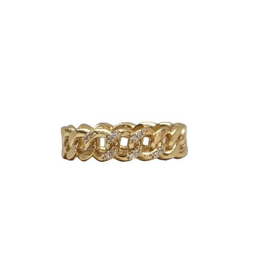 Gold Mini Catena Ring