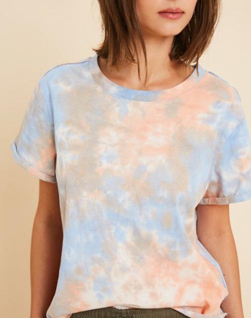 Tie Dye Crew Neck T Shirt