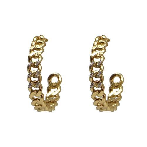Gold Mini Catena Hoops