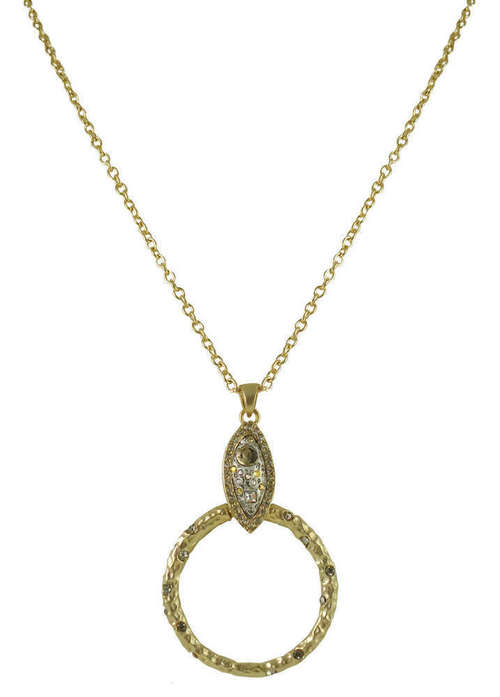 Gold Brindisi Almond Shape Cutout Necklace