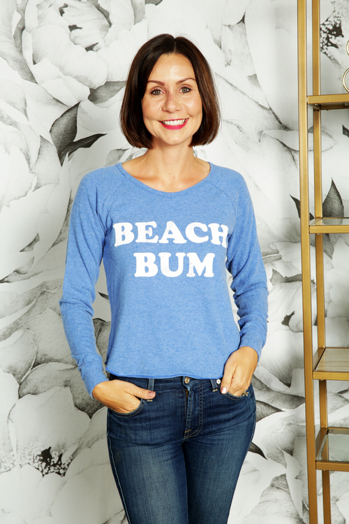 Beach Bum V-Neck Pullover Blue