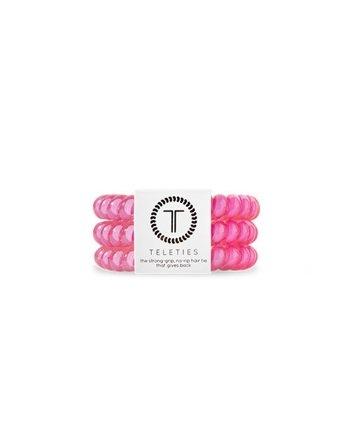 Teleties 3 Pack Small - Hot Pink