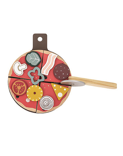 Wood Pizza Play Set