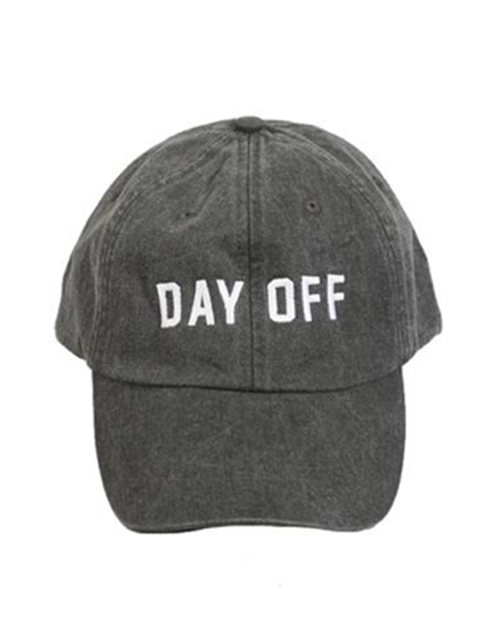 Day Off Embroidered Hat - Black