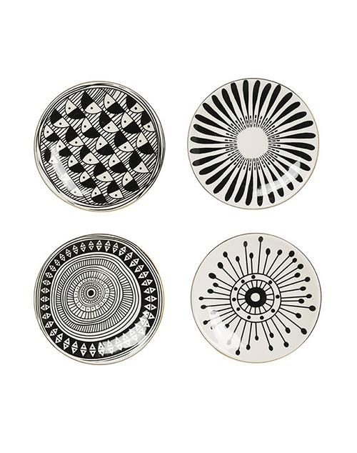 Round Black Pattern Plate