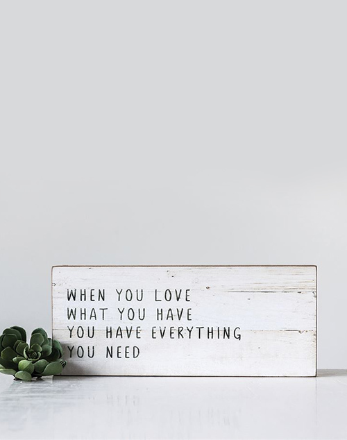 """When You Love? Wall Decor"
