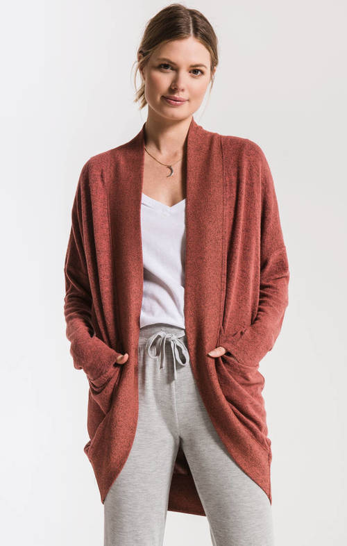 The Mesa Red Marled Sweater Knit Cocoon