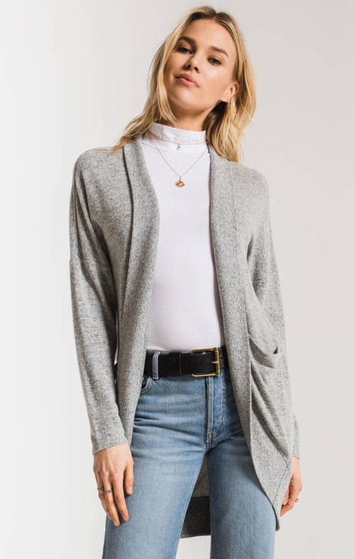 The Heather Grey Marled Sweater Knit Cocoon