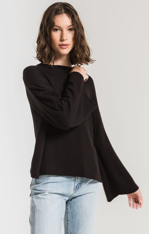 The Black Premium Fleece Flare Sleeve