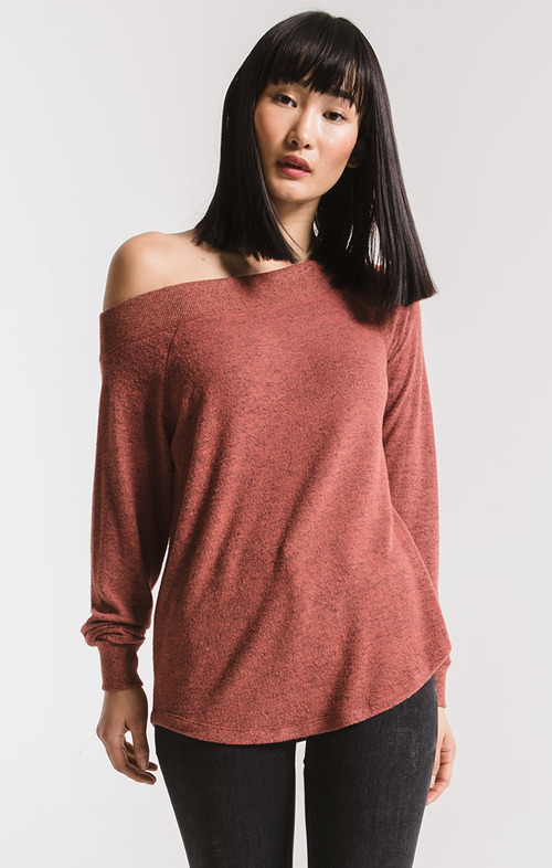 The Marled Sweater Knit One Shoulder