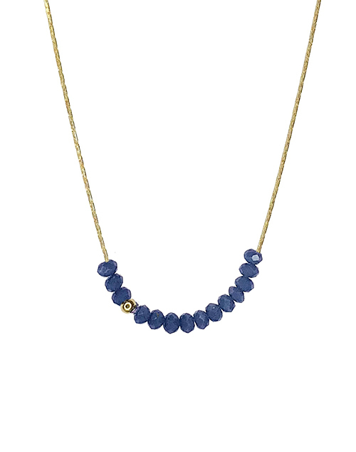 Sprinkle Of Calm Necklace - Navy
