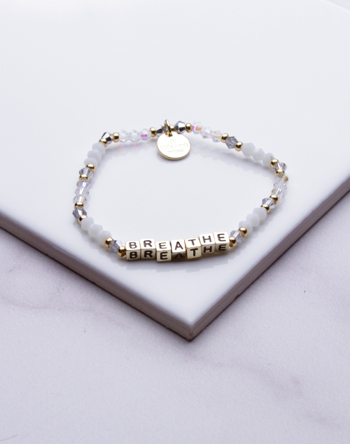 Little Words Project - Breathe Bracelet Gold