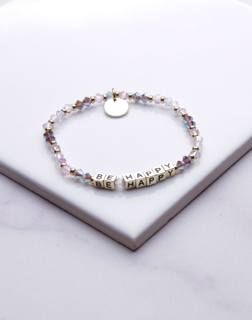 Little Words Project - Be Happy Bracelet Gold