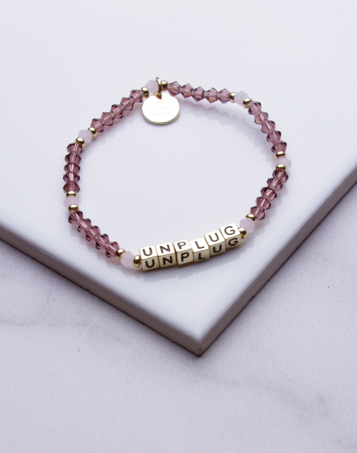 Little Words Project - Unplug Bracelet Gold