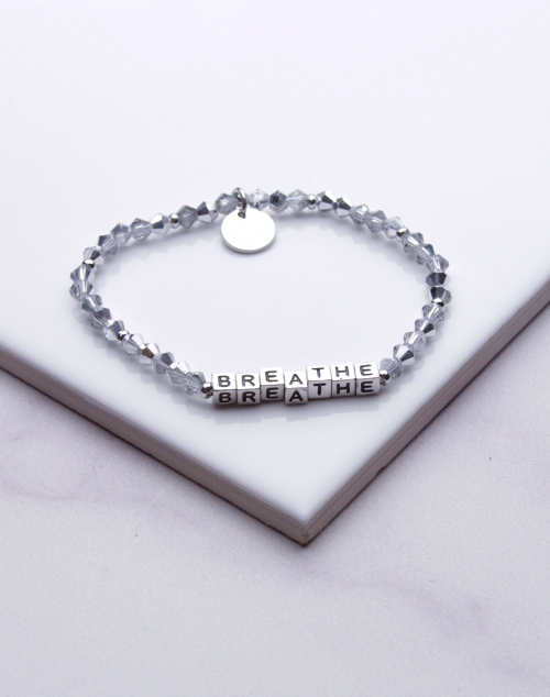 Little Words Project - Breathe Bracelet Silver