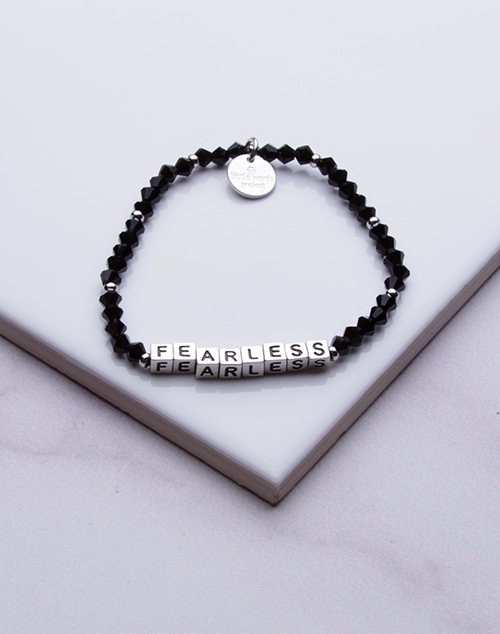 Little Words Project - Fearless Bracelet Silver