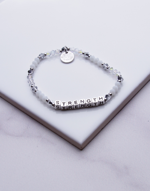 Little Words Project - Strength Bracelet Silver