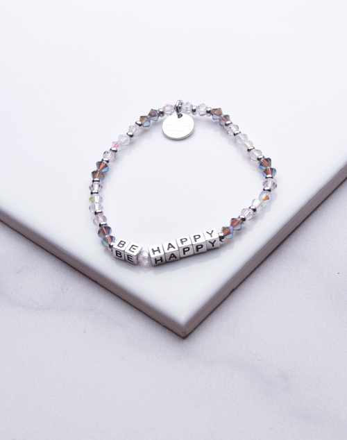 Little Words Project - Be Happy Bracelet Silver