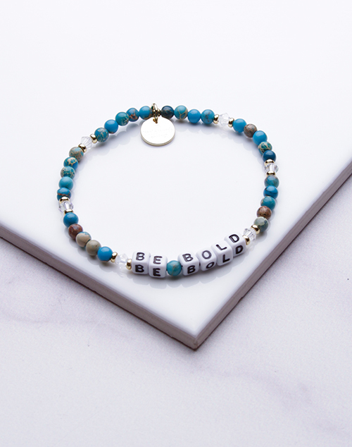 Little Words Project - Be Bold Bracelet White