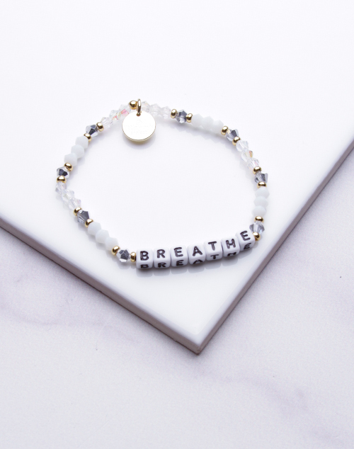 Little Words Project - Breathe Bracelet White