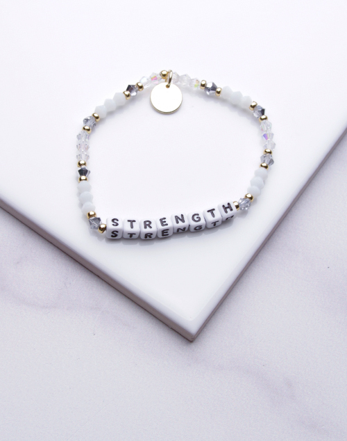 Little Words Project - Strength Bracelet White