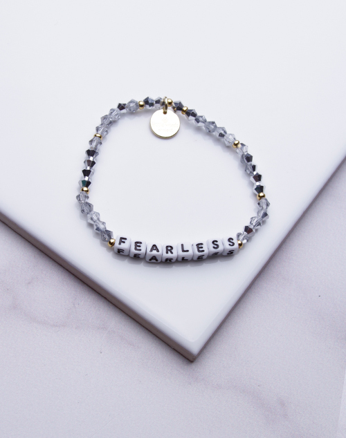 Little Words Project - Fearless Bracelet White