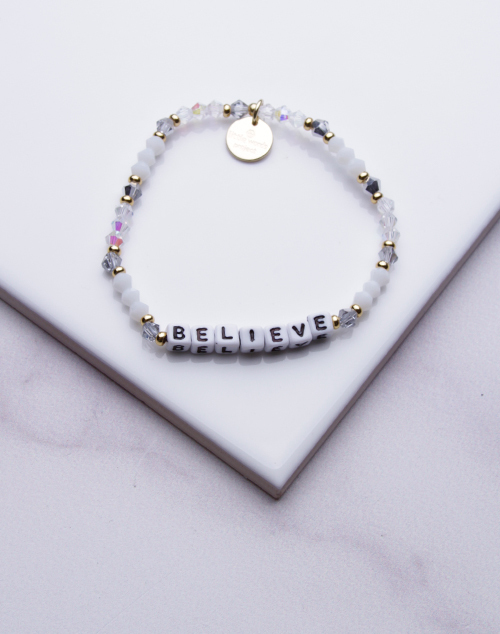 Little Words Project - Believe Bracelet White