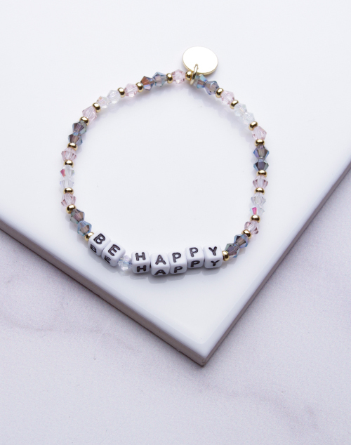 Little Words Project - Be Happy Bracelet White