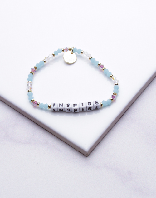 Little Words Project - Inspire Bracelet White