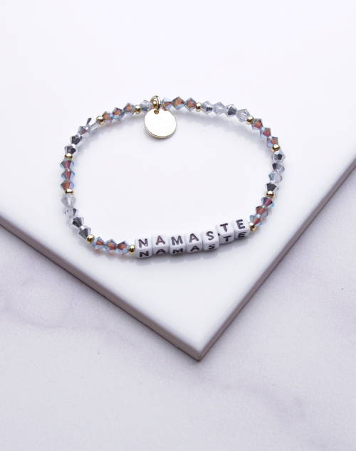 Little Words Project - Namaste Bracelet White