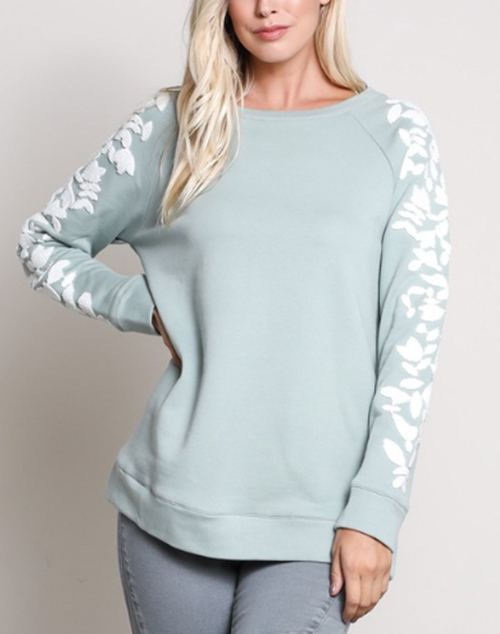 Long Sleeve Embroidered Pullover